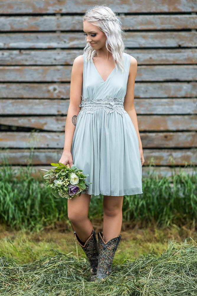 short bridesmaids dresses dusty grey with boots filly flair