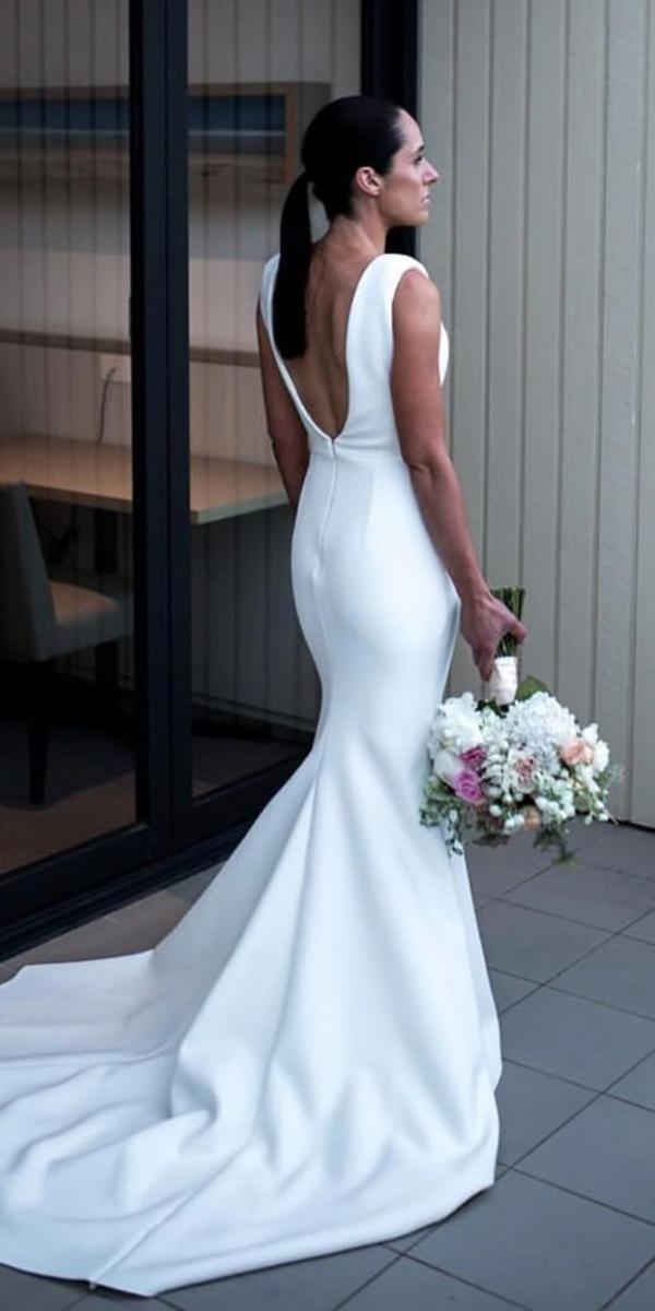 simple wedding dresses mermaid v back for beach chosen by one day
