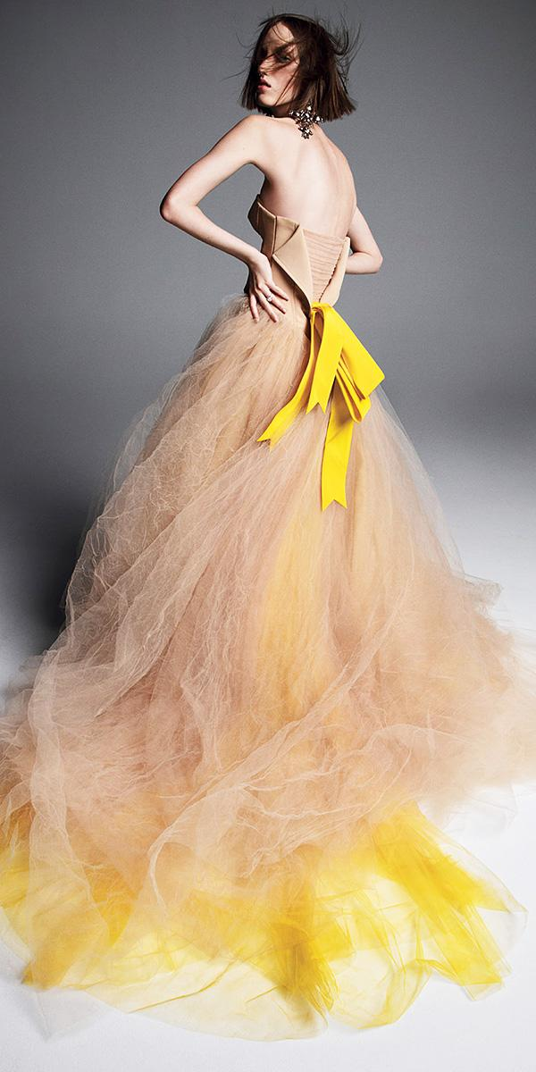 vera wang wedding dresses 2019 a line nude golden with bown unique