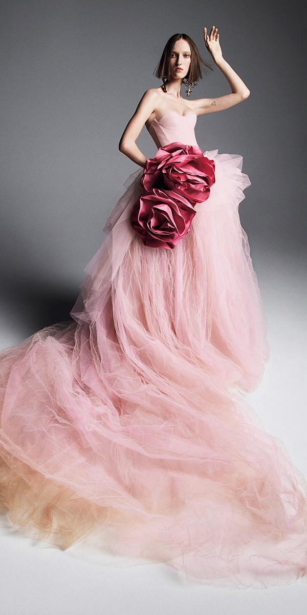 vera wang wedding dresses 2019 ball gown sweetheart blush nude multi layered tulle skirt