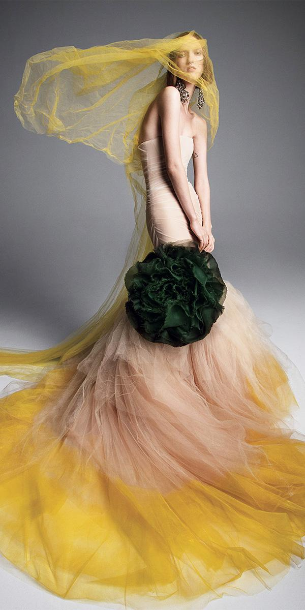 vera wang wedding dresses 2019 unique memraid strapless nude with gold accents