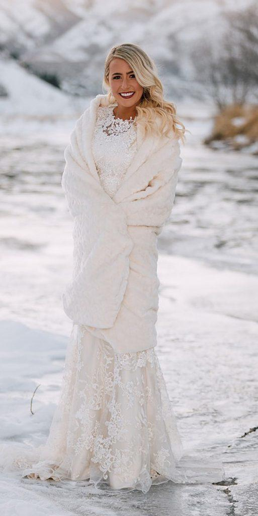 what to wear to a winter wedding lace sheath dress with blanket cody moffat