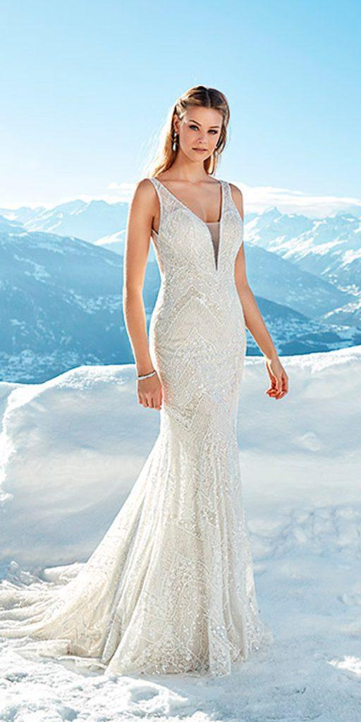 what to wear to a winter wedding mermaid vintage embroidered bodice v neck with straps eddy k