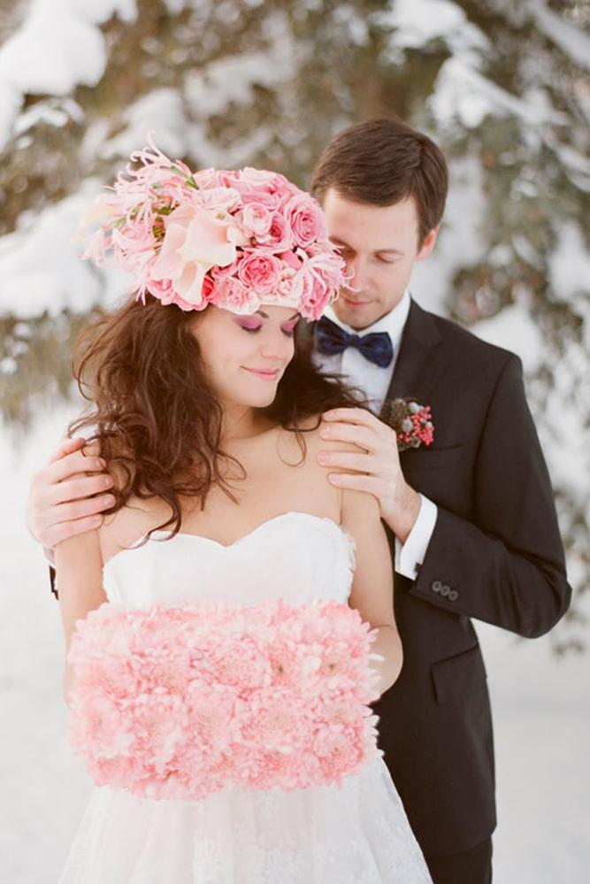 what to wear to a winter wedding strapless sweetheart dress flower hat with flower clutch gabe mc clintock
