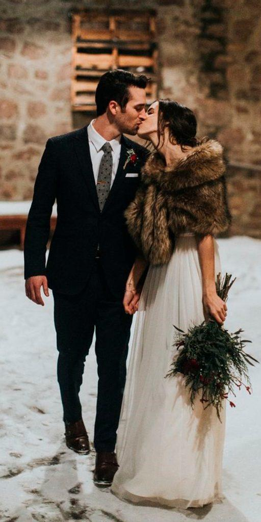 what to wear to a winter wedding stright dress with fur dan thorson
