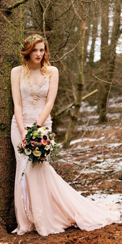 what to wear to a winter wedding vintage blush v neck with straps embroidered jo bradbury