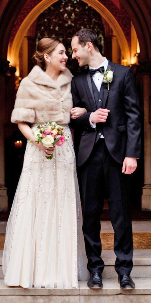 what to wear to a winter wedding vintage embroidered dress with sleeve coat sarah salotti