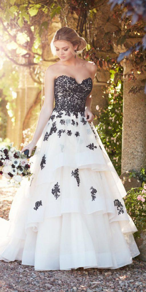 18 Bridal Ideas By Colour Black And White Wedding Dresses Wedding Dresses Guide