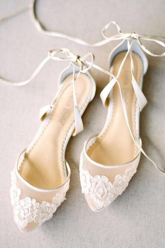 flat wedding shoes lace for country boho bella belle shoes