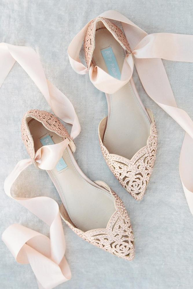 flat wedding shoes pink with stones michelle boyd