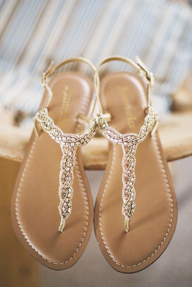 flat wedding shoes sandals brown emma stoner