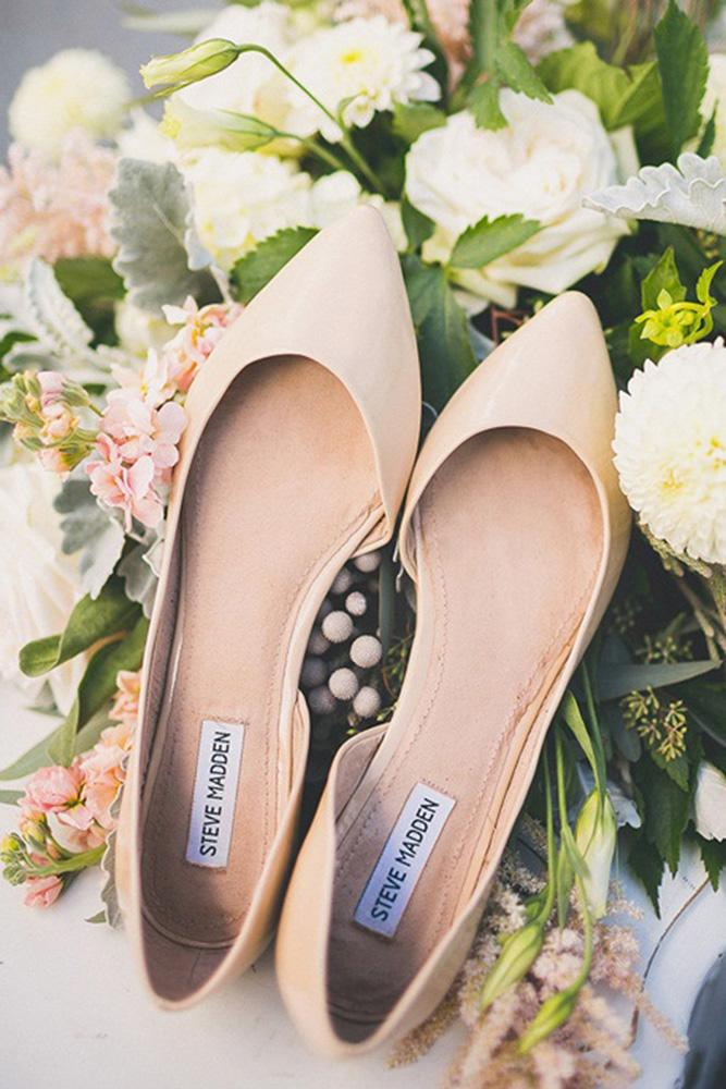 flat wedding shoes simple nude chelsea morgan photography