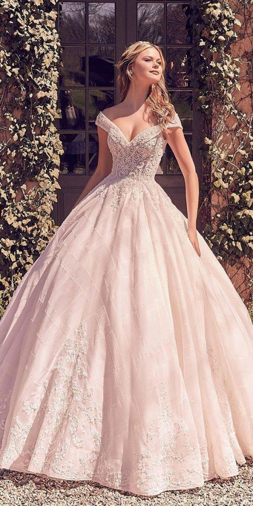 lace ball gown wedding dresses ball gown off the shoulder beaded morileeofficial