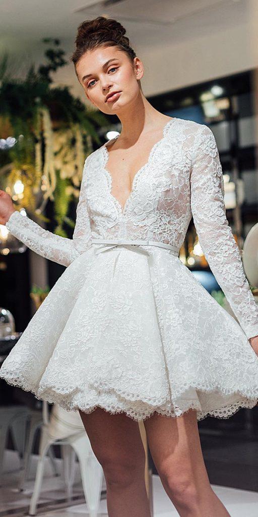 18 Trendy Lace Short Wedding Dresses | Wedding Dresses Guide