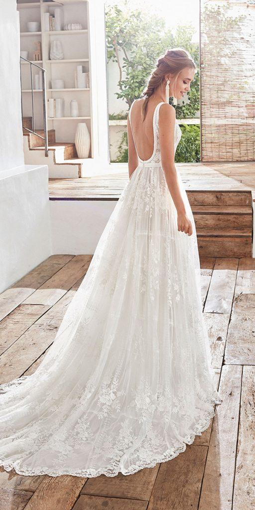 trendy wedding dresses a line low back lace bohemian rustic rosa clara