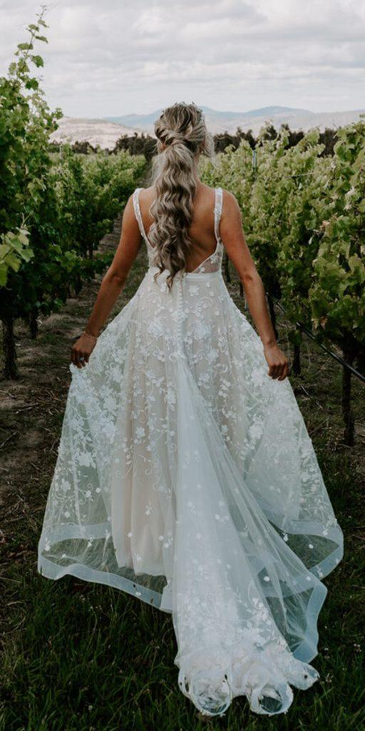 trendy wedding dresses a line low back rustic anna campbell