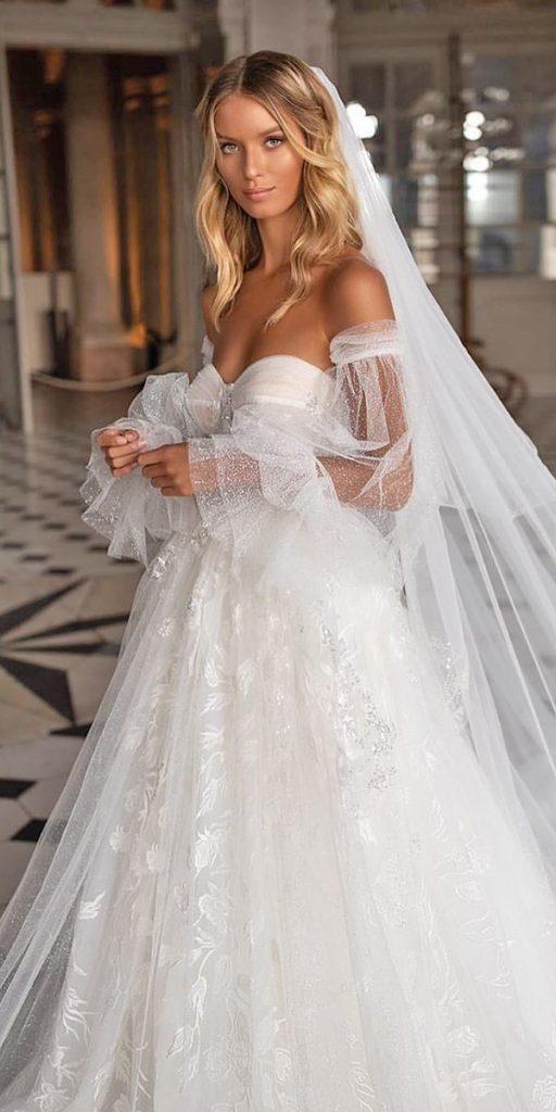 trendy wedding dresses a line sweetheart neckline off the shoulder milla nova
