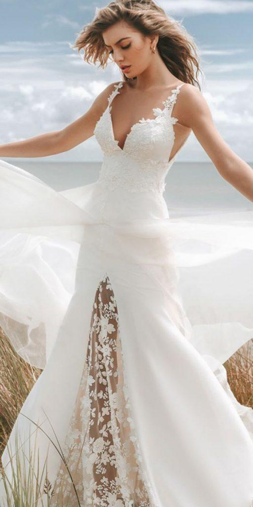 trendy wedding dresses country a line sleveless rustic stephanie allin