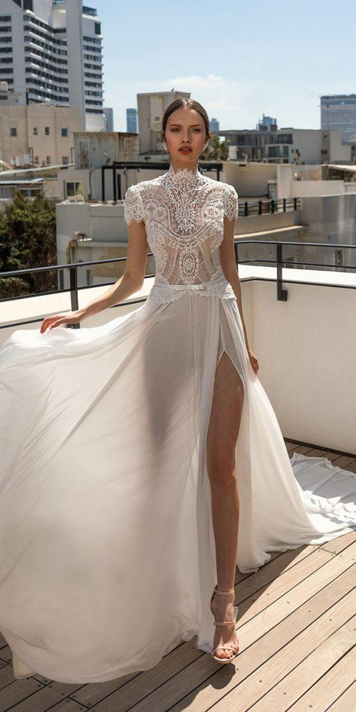 trendy wedding dresses lace top with cap sleeves beach julie vino