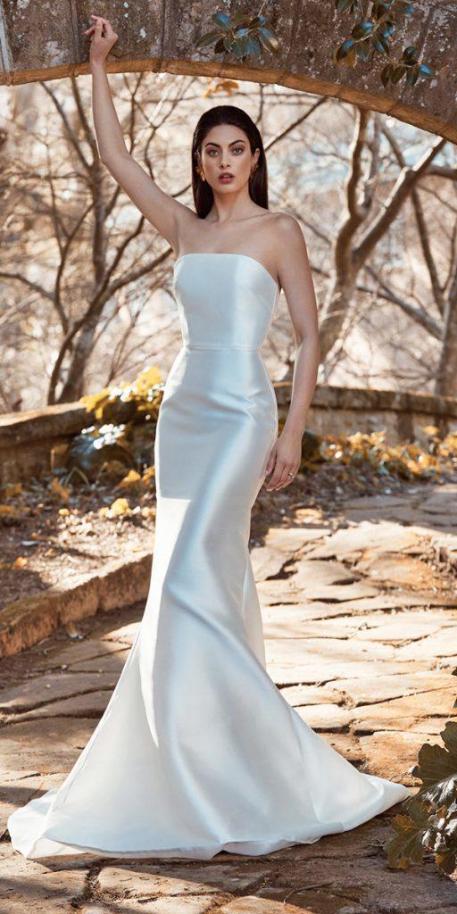 trendy wedding dresses mermaid simple strapless neckline 2020 leah da gloria
