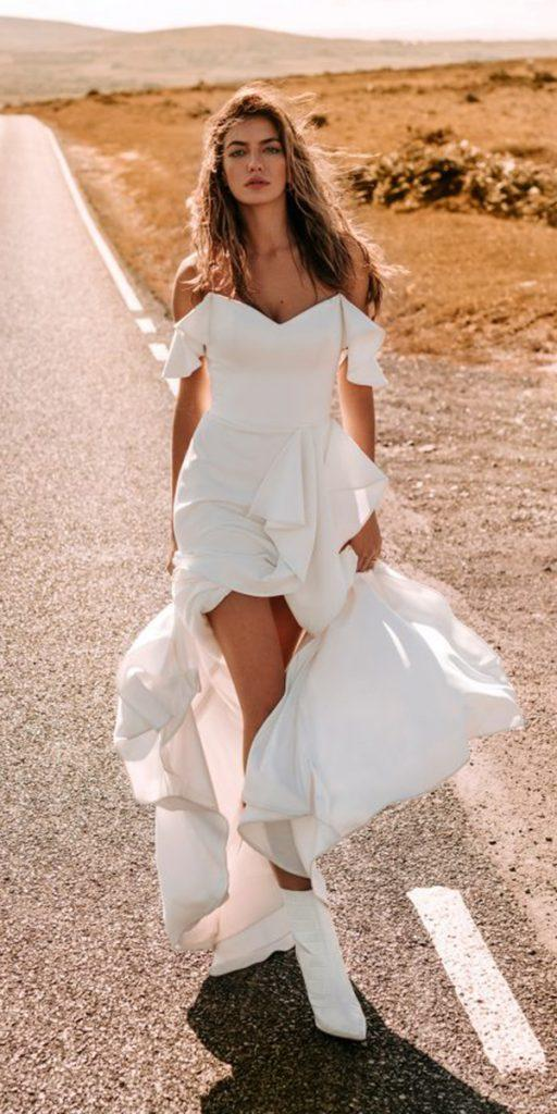 trendy wedding dresses simple with straps for bohemian beach stephanie allin