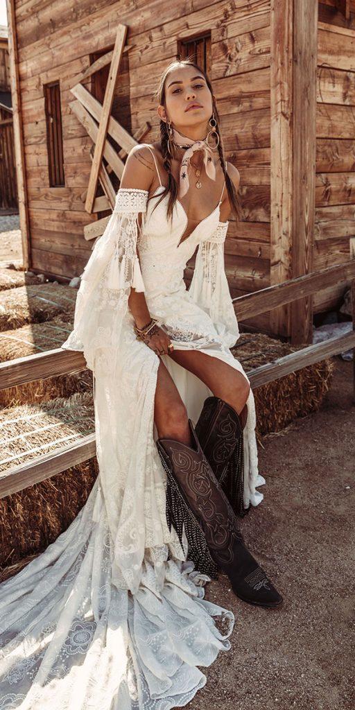 trendy wedding dresses with spaghetti straps barn 2020 bohemian rue de seine