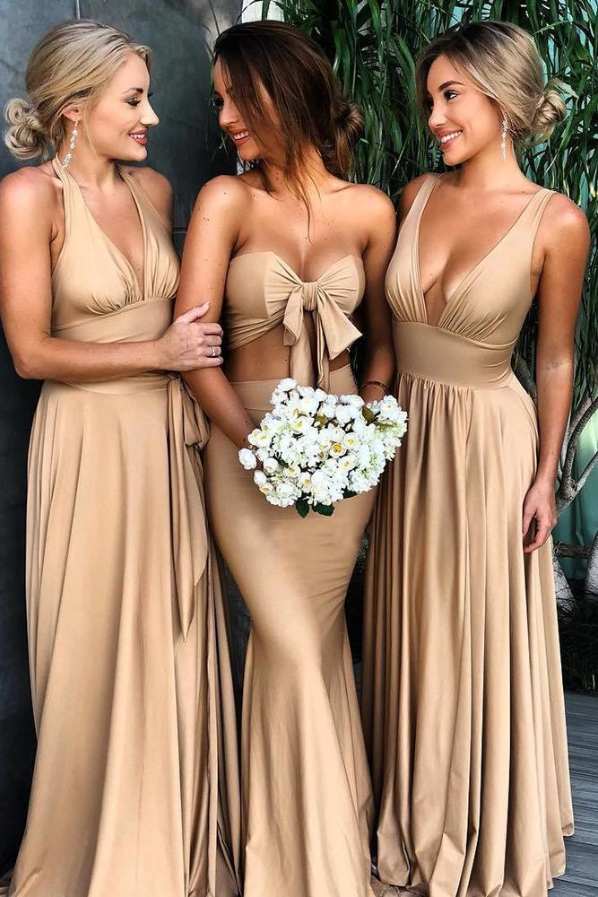 rustic bridesmaid dresses gold summer long sexy studio minc