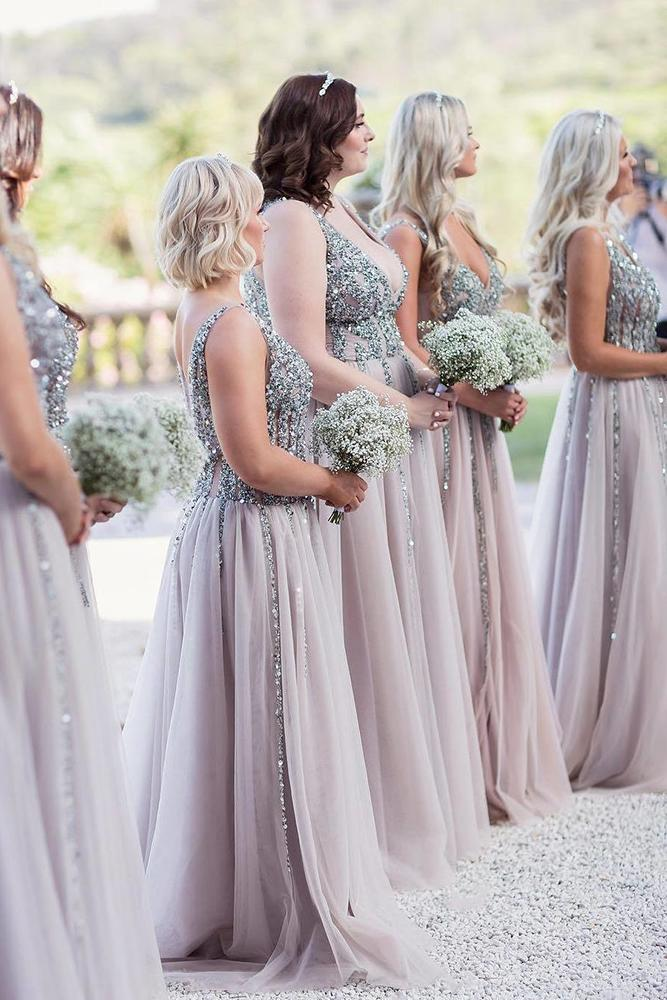 rustic bridesmaid dresses long sequins country craigandevasanders