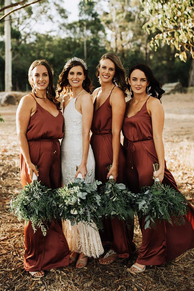 rustic bridesmaid dresses long with spaghetti straps country paris hawken weddings
