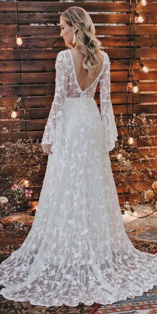 27 Amazing Boho Wedding Dresses With Sleeves Wedding Dresses Guide