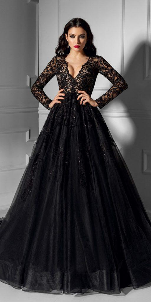 33 Beautiful Black Wedding Dresses That Will Strike Your Fancy Wedding Dresses Guide,Wedding Dresses For Rent