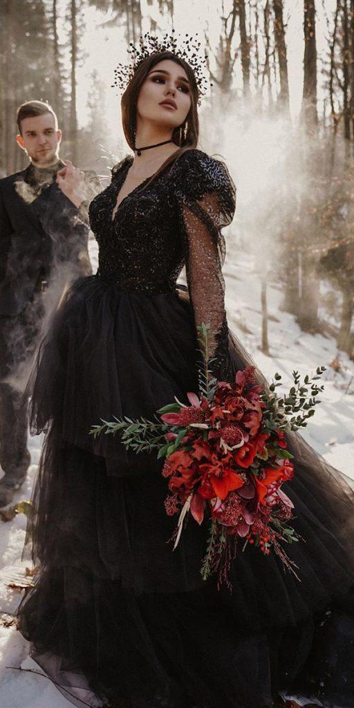 Dark Romance 27 Gothic Wedding Dresses Wedding Dresses Guide